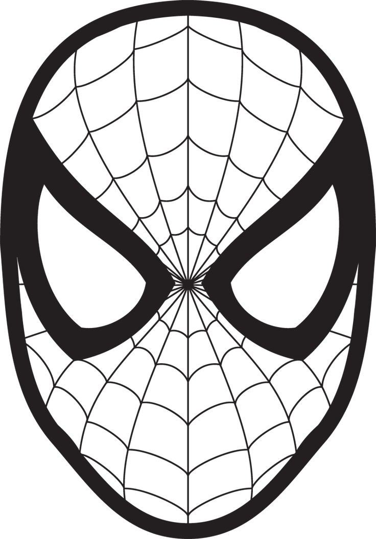 Spiderman Eye Template Spiderman Face Logo Spiderman Mask Clipart Wall