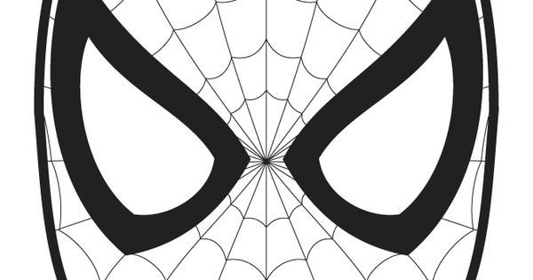Spiderman Eye Template Spiderman Logo Coloring Pages Mask Template