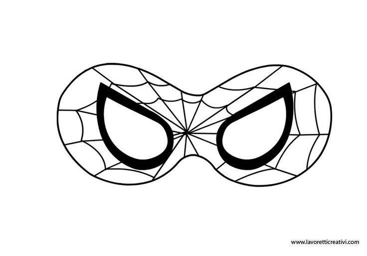 Spiderman Eye Template Spiderman Mask Printable Google Search