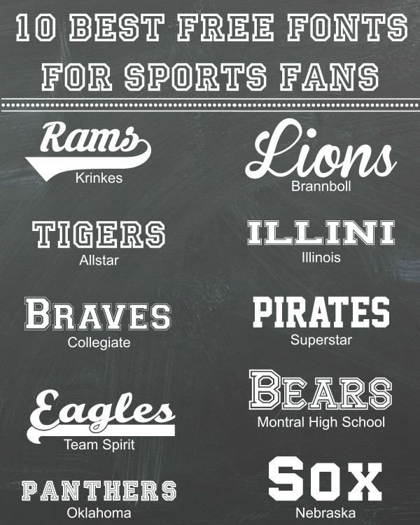 Sports Fonts In Word 10 Best Free Fonts for Sports Fans