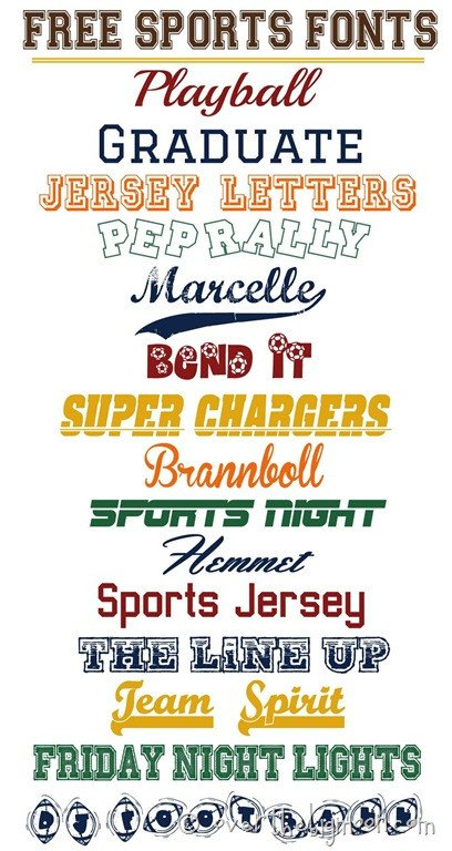 Sports Fonts In Word Free Sports Fonts