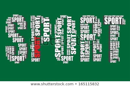 Sports Fonts In Word Sport Typography 3d Text Word Art Vector Illustration