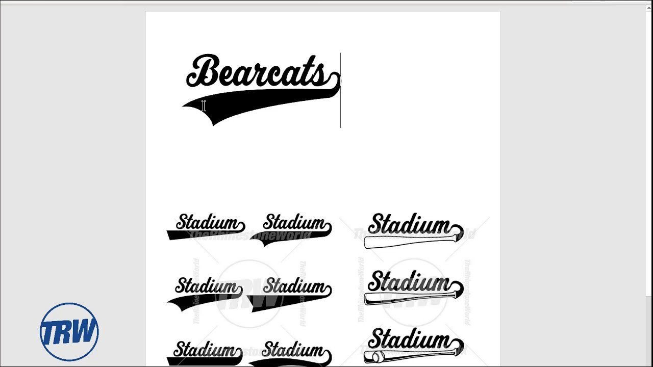 Sports Fonts In Word Stadium Sports Font with Tails In Microsoft Word for