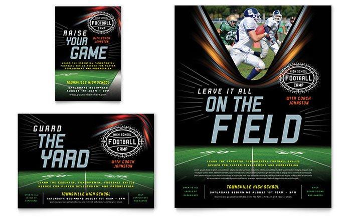Sports Program Template Microsoft Word Football Training Flyer & Ad Template Design