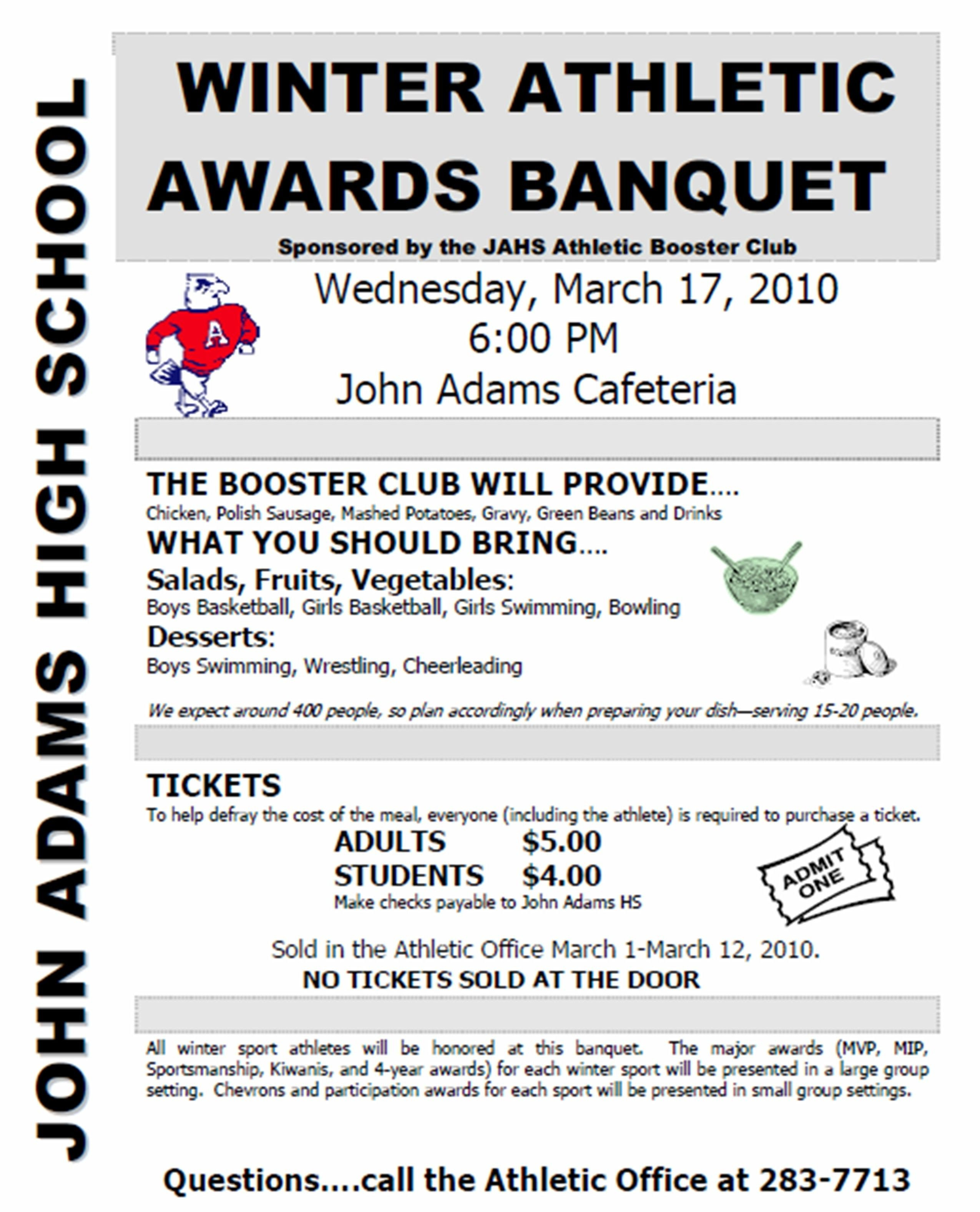 Sports Awards Banquet Program Template