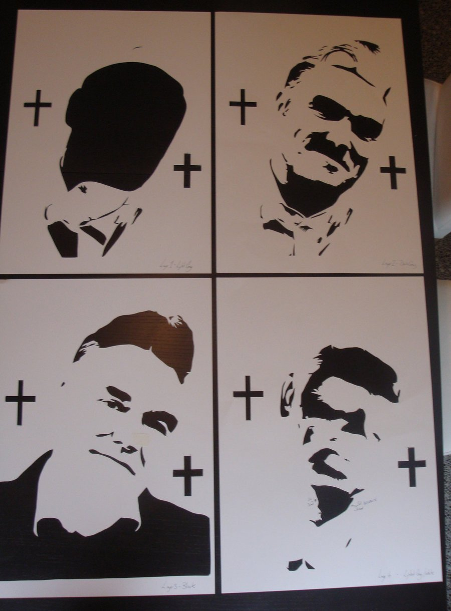 Spray Paint Art Stencils Morrissey Stencils Ready for Spray Paint by Ramart79 On