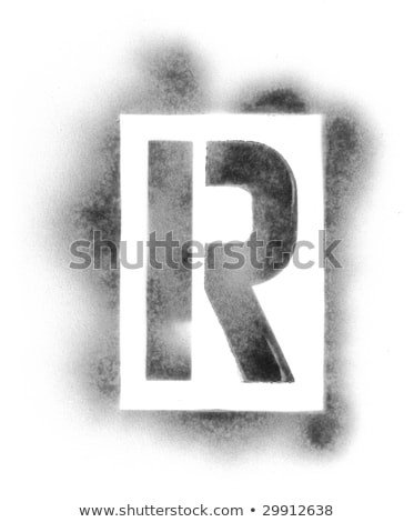 Spray Paint Letters Stock Royalty Free