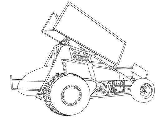 Sprint Car Drawing Backyard Drawing at Getdrawings
