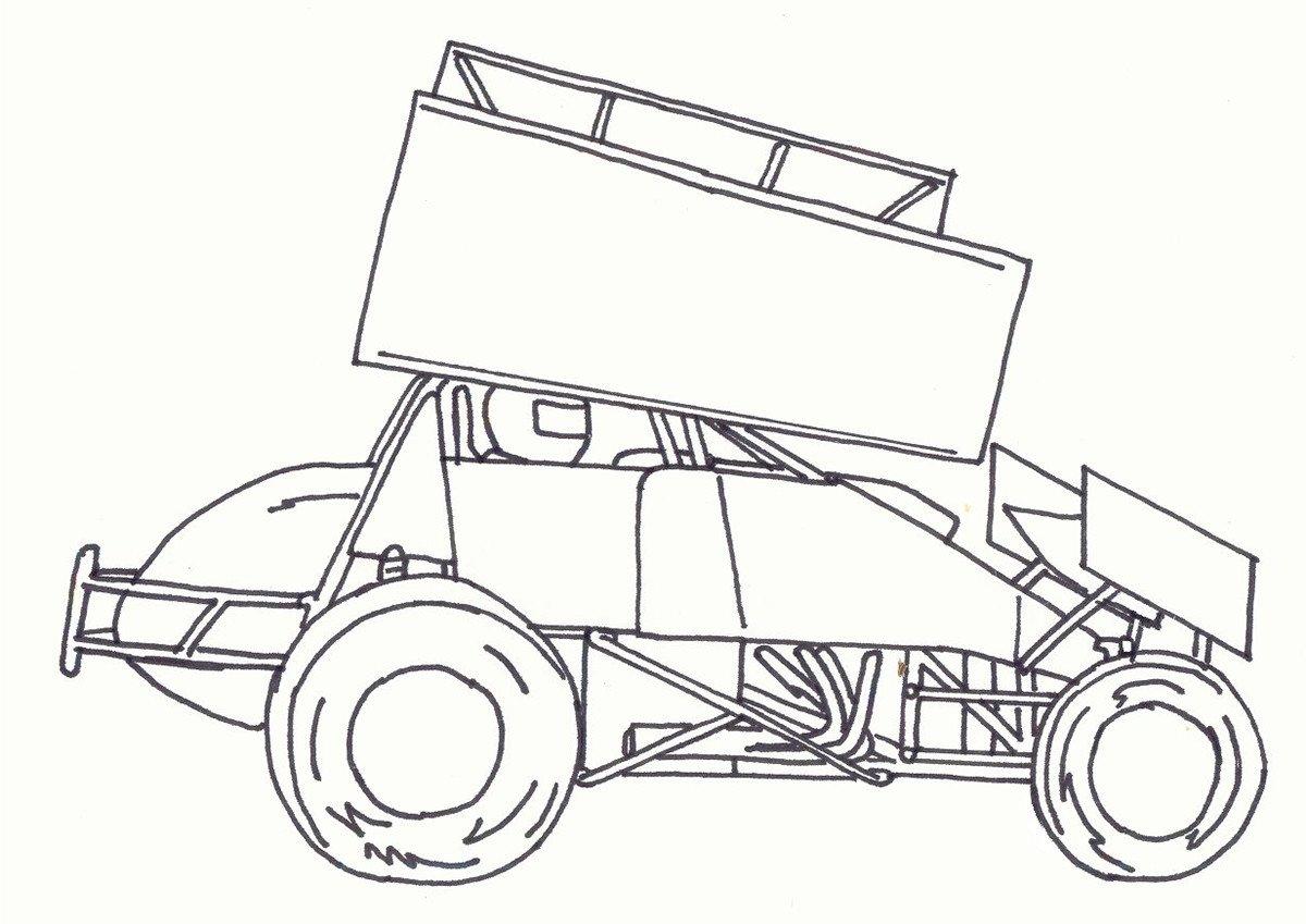Sprint Car Drawing Kidz Korner
