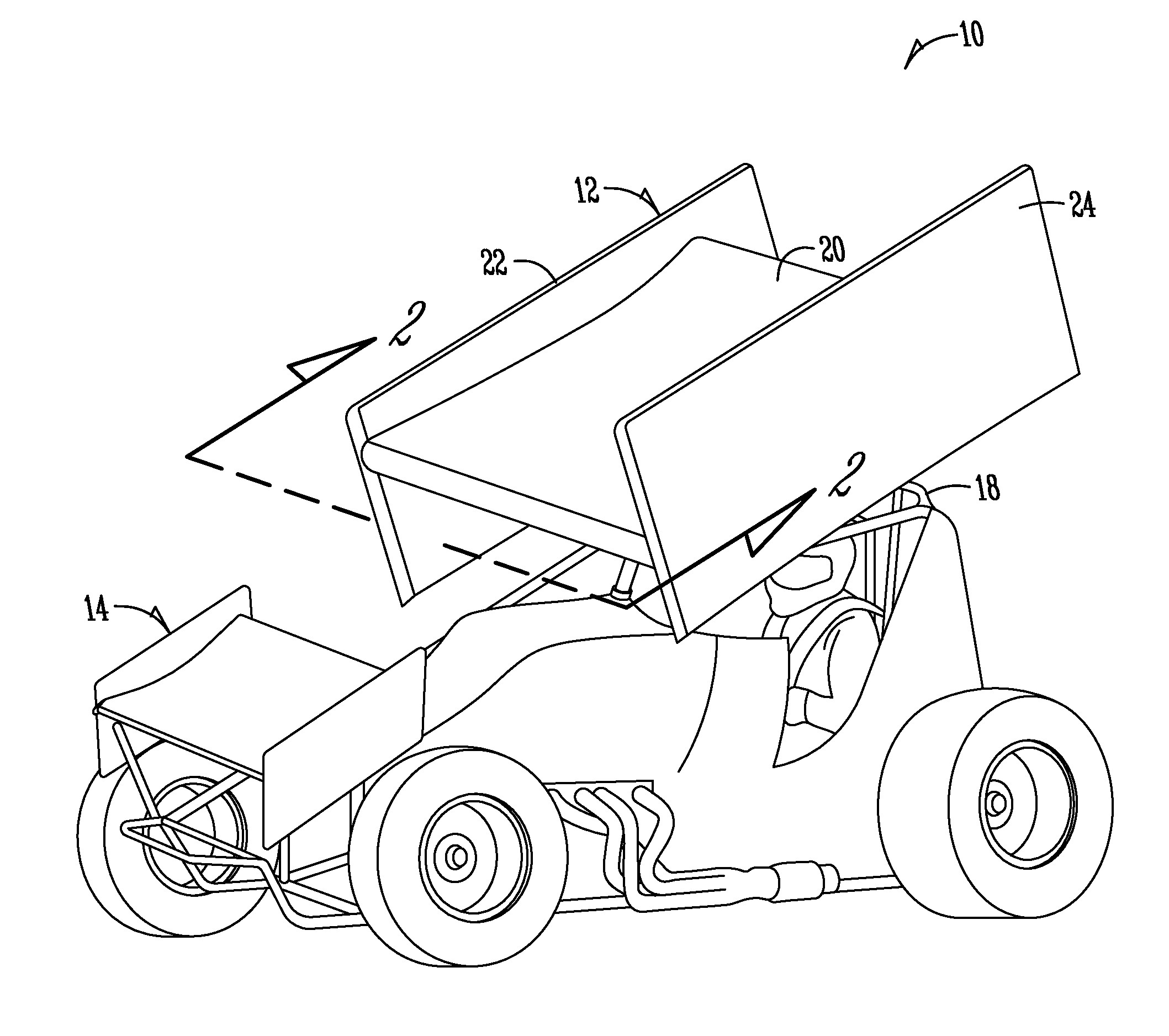 Sprint Car Drawing Patent Us Sprint Car Wing Google Patents