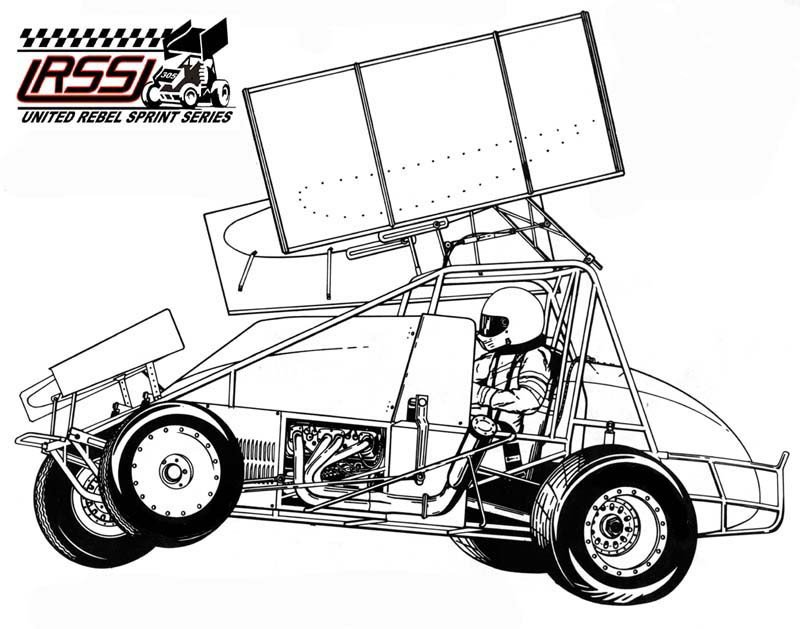 Sprint Car Drawing Printable Sprint Car Coloring Pages
