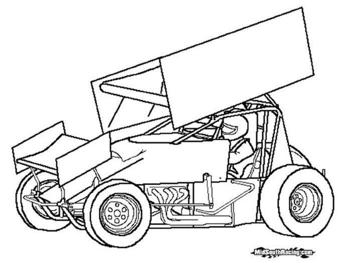 Sprint Car Drawing Sprint Car Drawing Sprint Car Sprint Cars