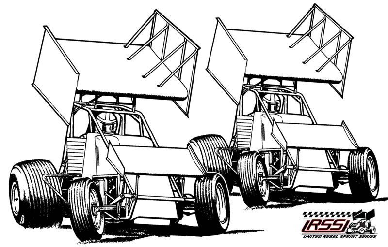 Sprint Car Drawing Wingless Sprint Cars Coloring Page Coloring Pages