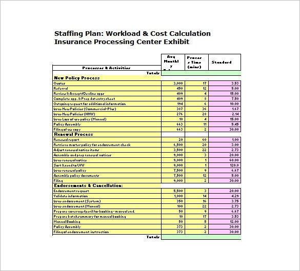 Staffing Matrix Template 13 Staffing Plan Templates Free Sample Example format