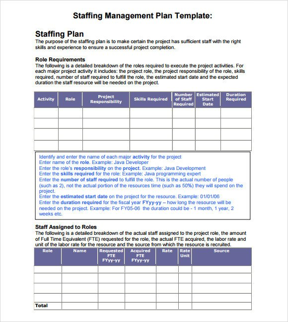 Staffing Plan Template Excel Sample Staffing Model 6 Documents In Pdf Excel