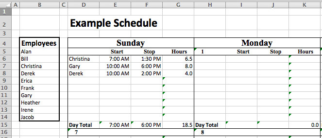 Staffing Plan Template Excel Staff Roster Template Excel Free