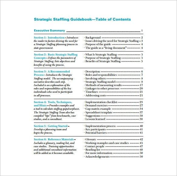 Staffing Plan Template Excel Staffing Plan