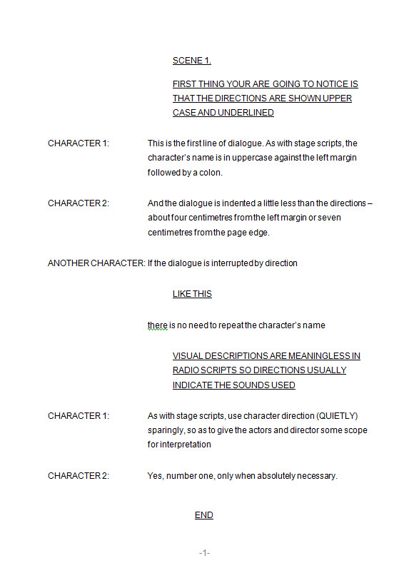 Stage Play format Template formatting Scripts 3 Radio