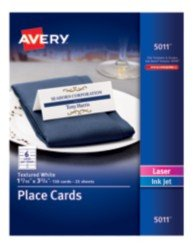Staples Tent Cards Template Avery Printable White Matte Textured Place Cards