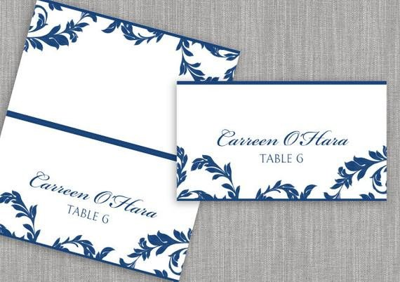 Staples Tent Cards Template Diy Place Card Template Download Instantly by Karmakweddings