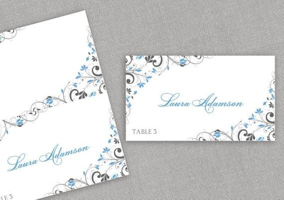 Staples Tent Cards Template Place Card Template Instant Download Editable by