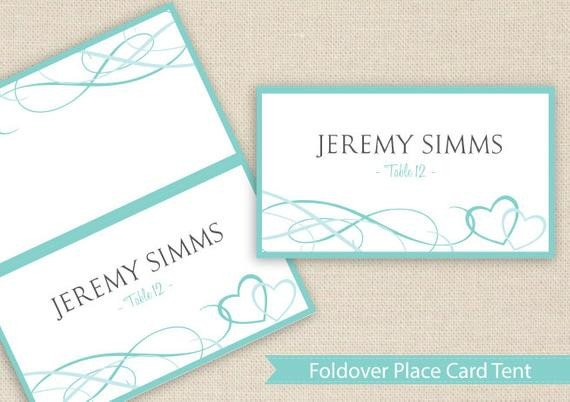 Staples Tent Cards Template Place Card Tent Download Instantly by Diyweddingtemplates