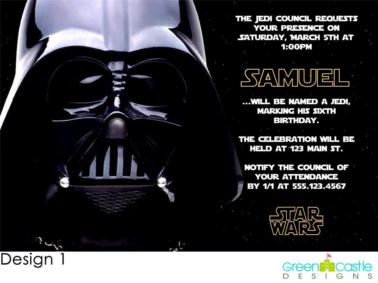 FREE Star Wars Birthday Party Invitations Templates