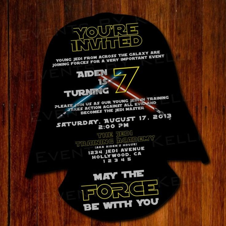 Star Wars Invitation Templates 11 Best Star Wars Party Invitation Images On Pinterest