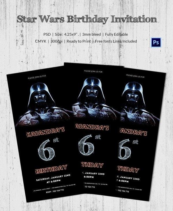 Star Wars Invitation Templates 23 Star Wars Birthday Invitation Templates – Free Sample
