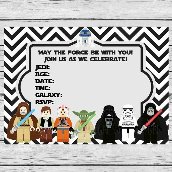 Star Wars Invitation Templates 35 Best Images About Fiesta Star Wars Star Wars Party