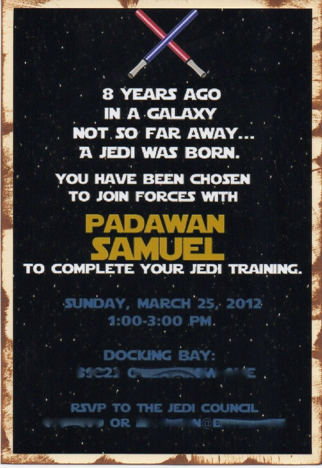 Star Wars Invitation Templates Another Babin Creation Star Wars Birthday Invitation
