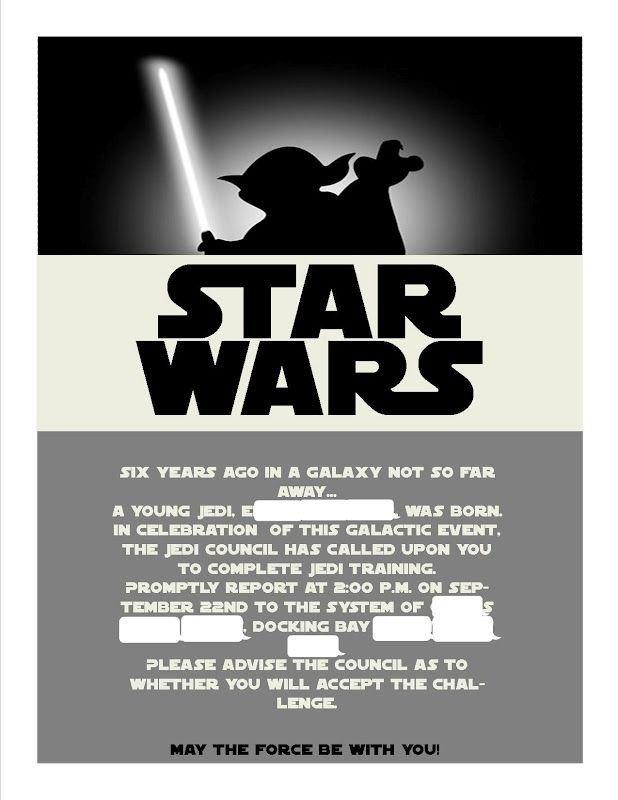 Star Wars Invitation Templates Best 25 Star Wars Invitations Ideas On Pinterest