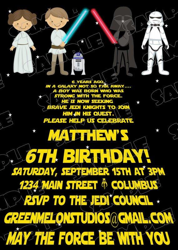 Star Wars Invitation Templates Free Printable Star Wars Birthday Invitations – Template