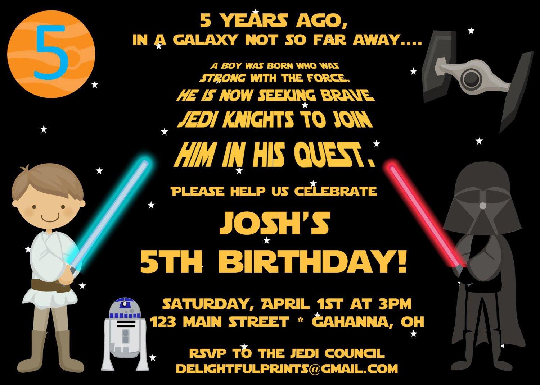 Star Wars Invitation Templates Free Printable Star Wars Birthday Party Invitations