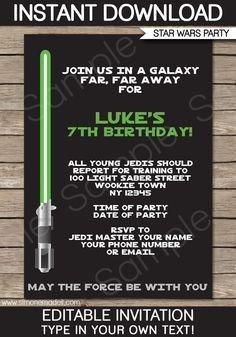 Star Wars Invitation Templates Free Printable Star Wars Party Invitations Recherche