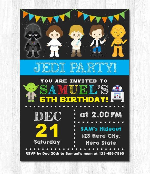 Star Wars Invitation Templates Free Star Wars Birthday Invitations – Free Printable