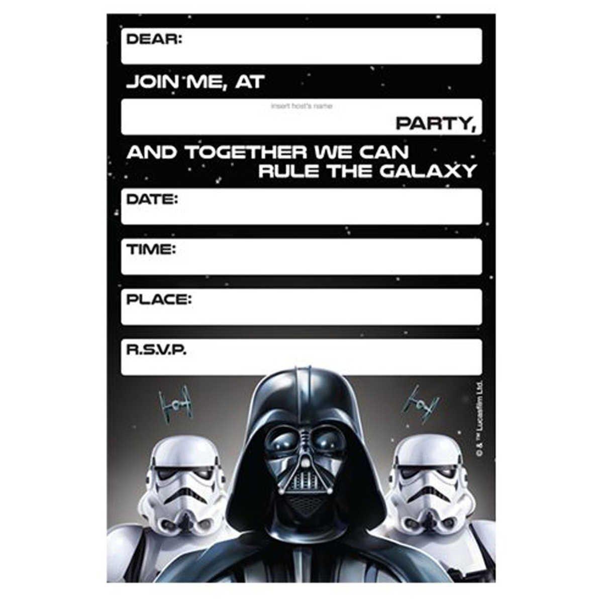 Star Wars Invitation Templates Lego Star Wars Birthday Invitations Template – Bagvania