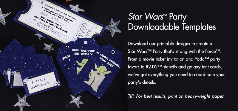 Star Wars Invitation Templates Star Wars™ Party Downloadable Template
