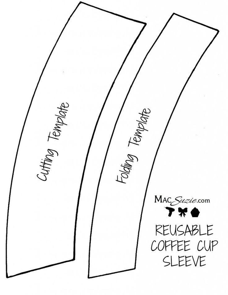 Starbucks Sleeve Template 26 Of Mini Starbucks Cup Template for Sharpener
