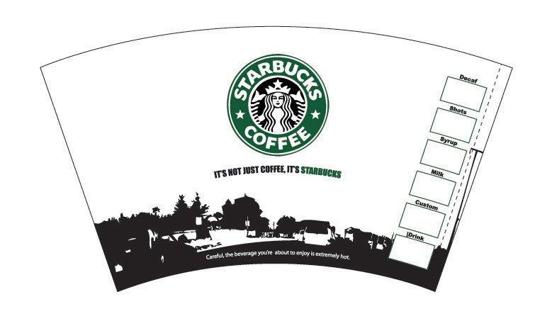Starbucks Sleeve Template 28 Of Coffee Bean Starbucks Template