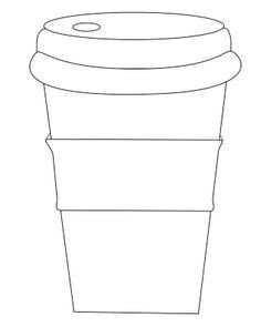 """Starbucks Sleeve Template Coffee Cup with Sleeve Use """"circle Words"""" to Decorate"""