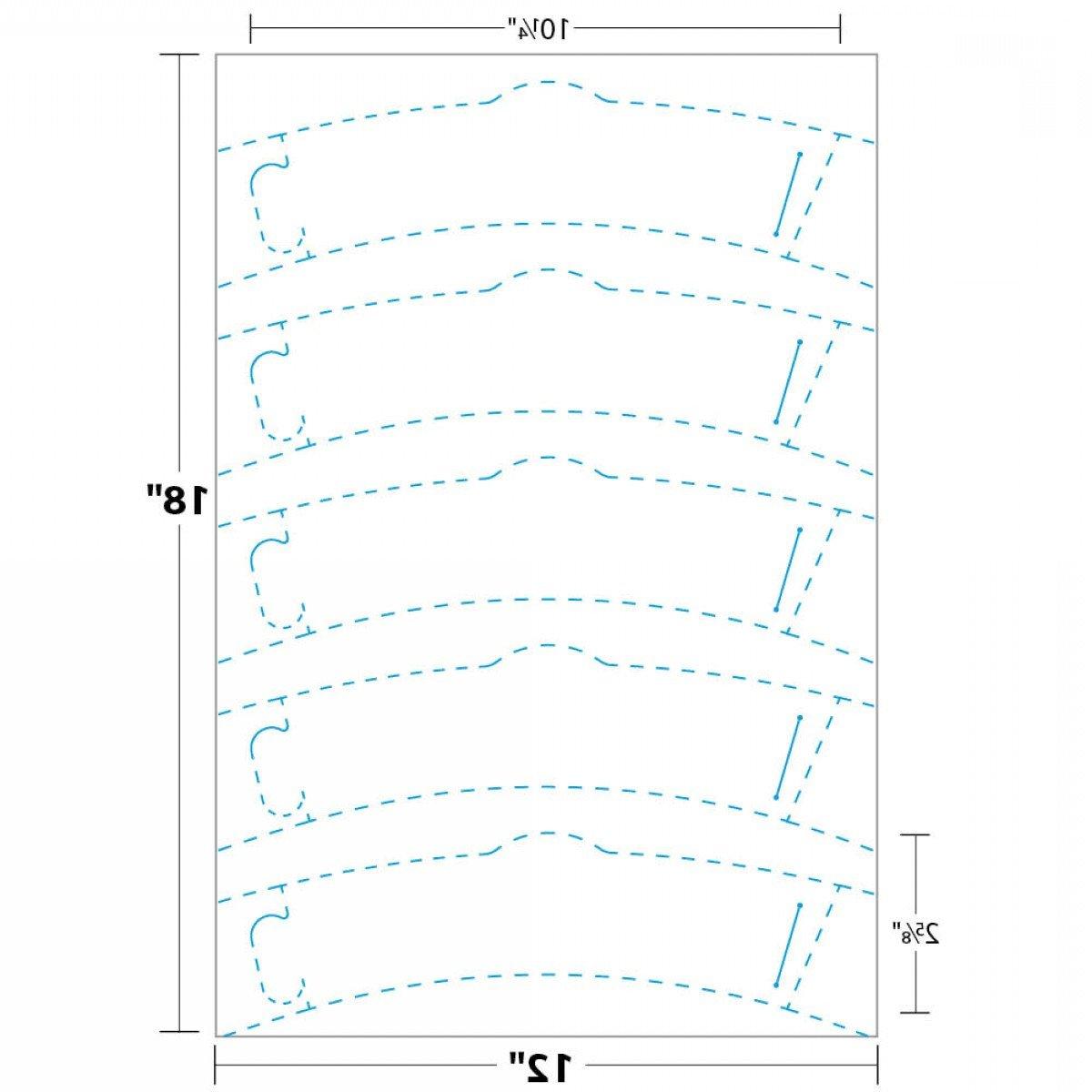 Starbucks Sleeve Template Cup Sleeve Dcscwh Measurement Simple Template