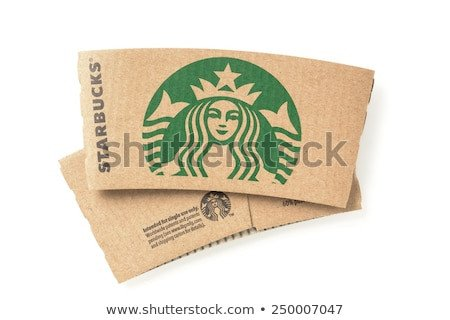 Starbucks Sleeve Template Paper Cup Sleeve Stock Royalty Free