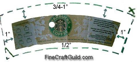 Starbucks Sleeve Template Starbucks Coffee Cup Sleeve Template