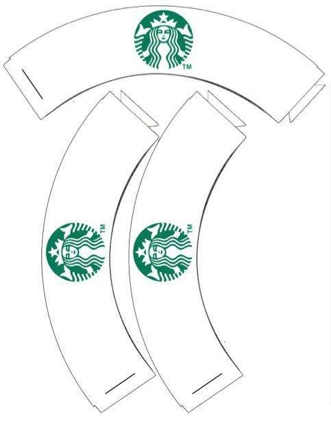 Starbucks Sleeve Template Starbucks Cupcake Wrappers Printable