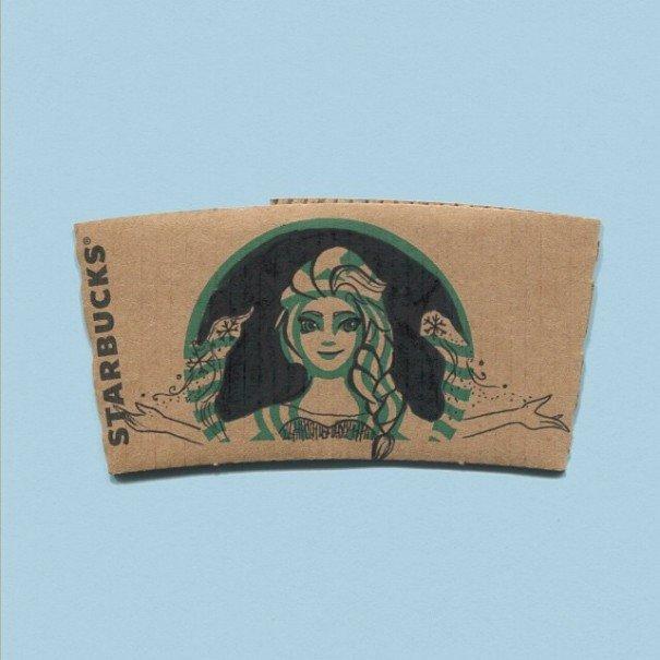 Starbucks Sleeve Template This Instagrammer Turns Starbucks Coffee Sleeves Into Art