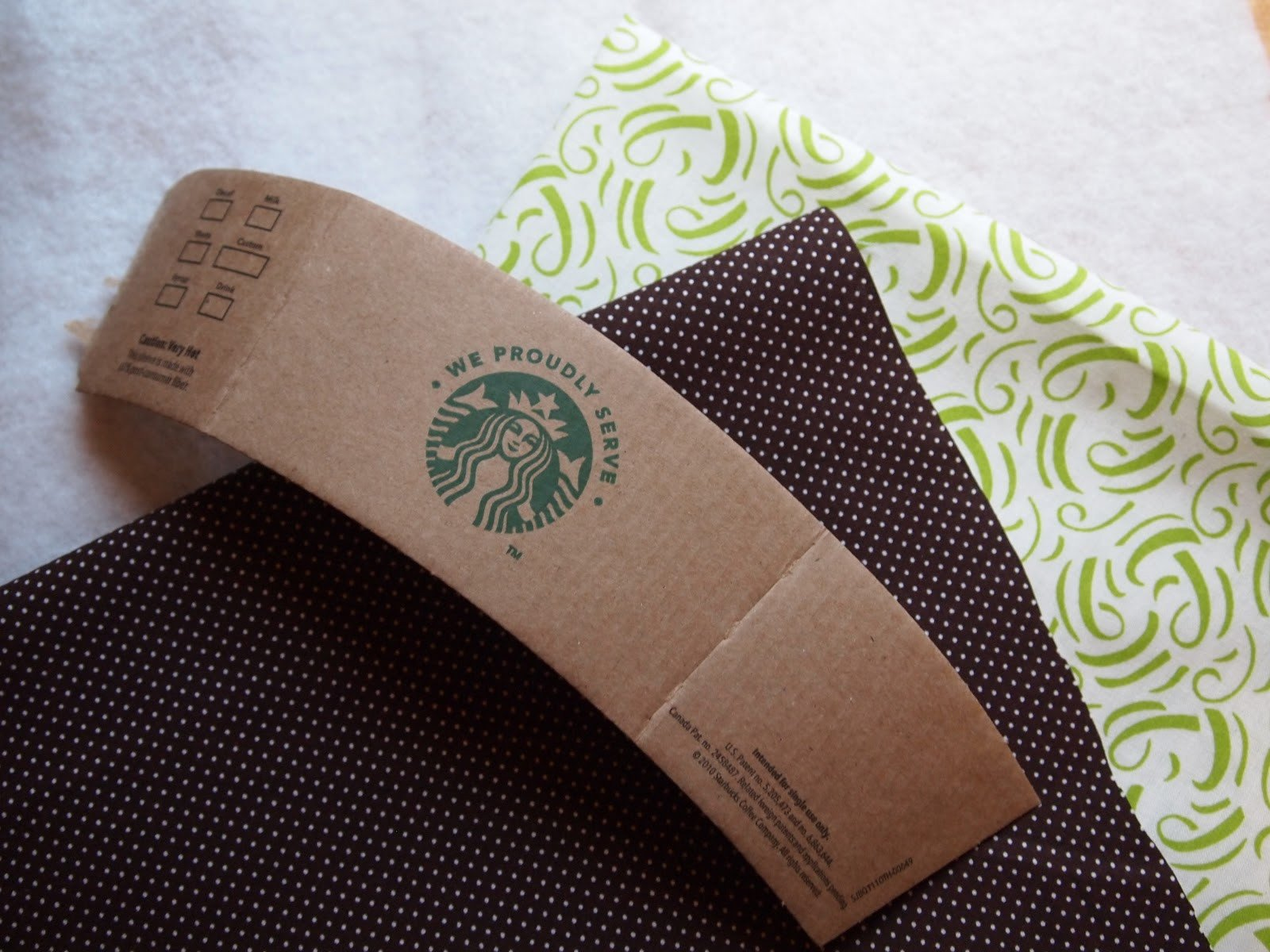Starbucks Sleeve Template Through the Looking Glass Coffee Collars and Chocolatey