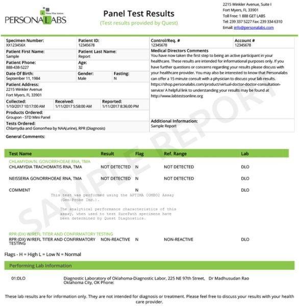 Std Results form Pdf Negative Std Test Results Pdf Download
