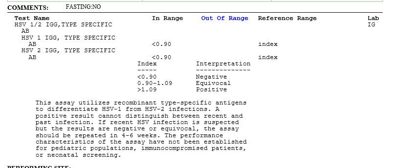 Std Results form Pdf Std Testing Example Test Results