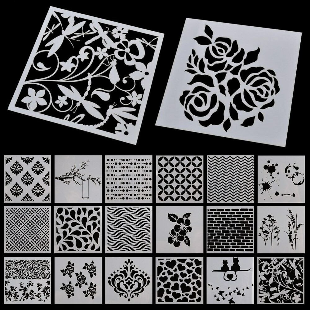 Stencil Alphabet Stencils Wall Painting Templates Craft